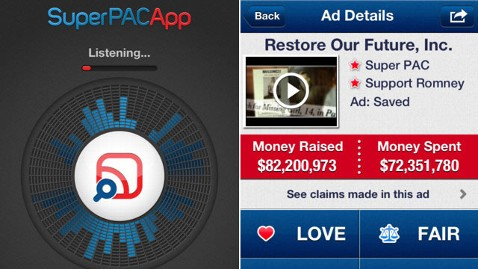 ht superpac app ll 120822 wblog Super PAC App: The Shazam for Political Attack Ads