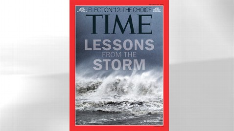 ht time magazine kb 121108 wblog iPhone Photo of Hurricane Sandy Makes the Cover of Time