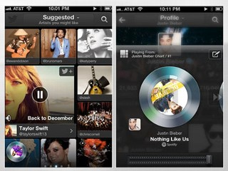 PHOTO: Twitter's #Music app, available for the iPhone, suggests popular music that's being shared on the social network.
