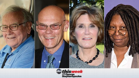thisweek buffett carville matalin goldberg 130503 wblog Coming Up on This Week: Warren Buffett, Powerhouse Roundtable