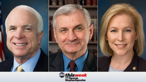 thisweek mccain  reed gillibrand 130510 wblog Coming Up on This Week: Sen. John McCain and Sen. Jack Reed