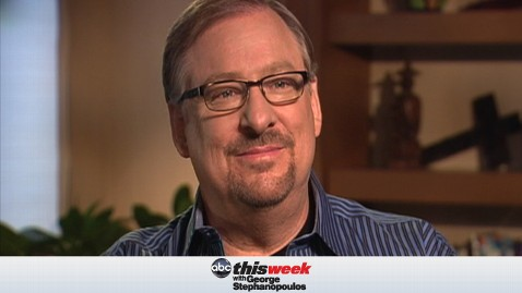 thisweek pastor warren 1200405 wblog This Week Preview: Pastor Rick Warren on the Economy, Mormonism, and Who Goes to Heaven