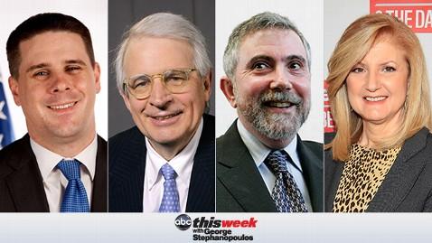 thisweek pfeiffer stockman krugman huffington 130405 wblog Coming Up on This Week: Obama Senior Adviser Dan Pfeiffer; Two Powerhouse Roundtables