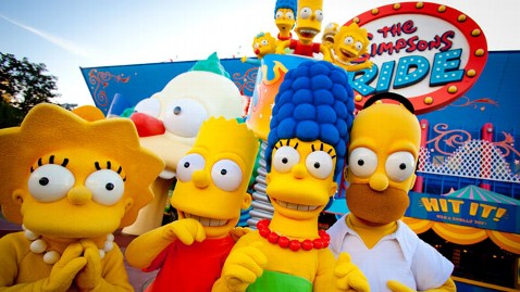 ht simpsons theme park family ride jef 130530 wblog New Simpsons Attraction Krustyest Place on Earth