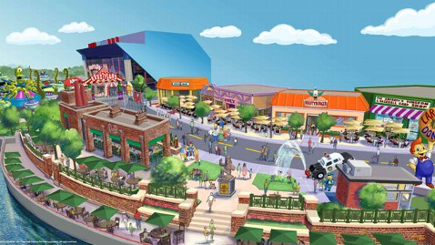 ht simpsons theme park springfield rendering jef 130530 wblog New Simpsons Attraction Krustyest Place on Earth