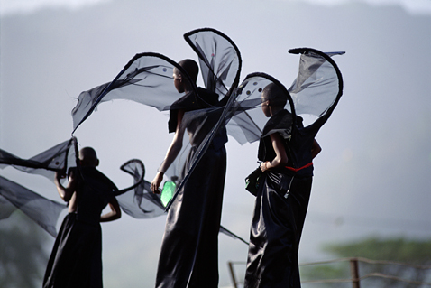 ht stefan falke black angels jp 120523 wblog Above The Ground: Stilt Walking School in Trinidad