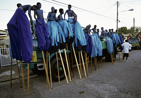 ht stefan falke blue jp 120523 wblog Above The Ground: Stilt Walking School in Trinidad