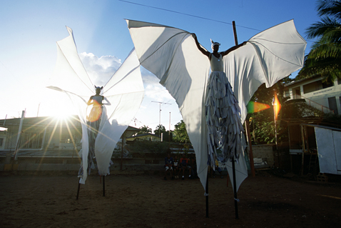 ht stefan falke white angels jp 120523 wblog Above The Ground: Stilt Walking School in Trinidad