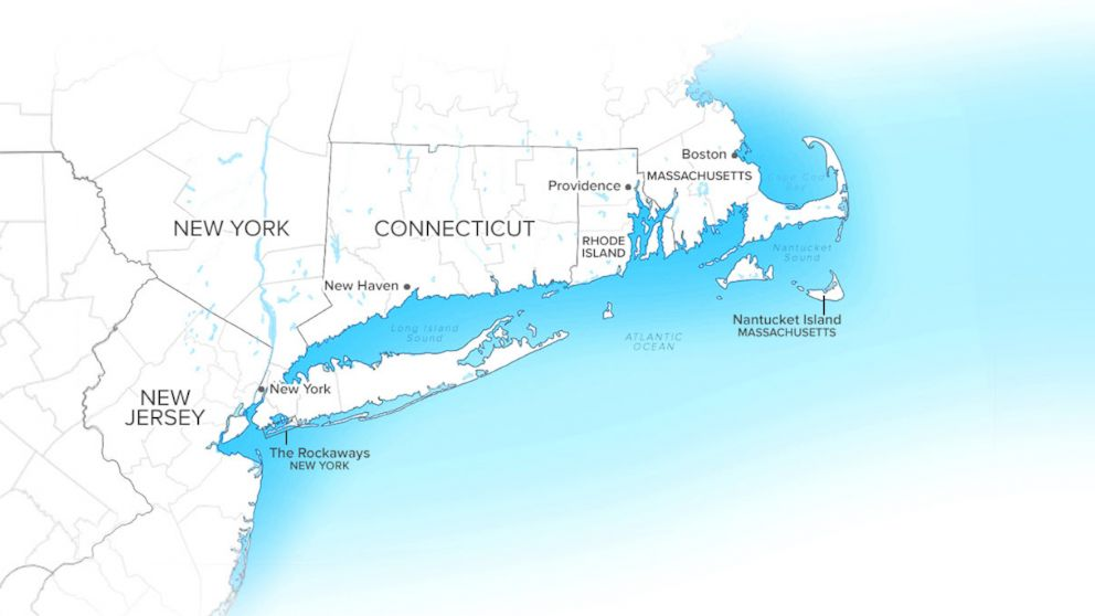 PHOTO: The eastern seaboard is shown here from The Rockaways, N.Y., to Nantucket Island, Mass.