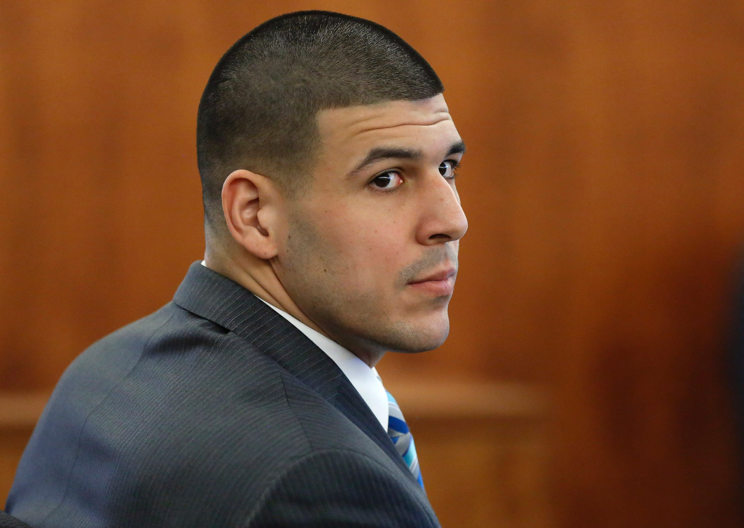 Aaron hernandez was cut by the new england patriots after he was - Photo Former New England Patriots Football Player Aaron Hernandez Sits During His Murder Trial March In Fall River Mass