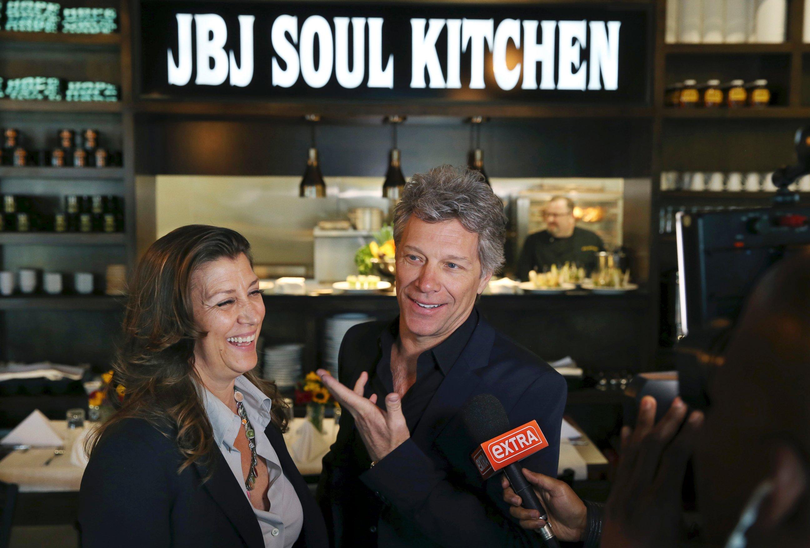 PHOTO: Jon Bon Jovi and his wife, Dorothea Hurley stand in Jon Bon ...