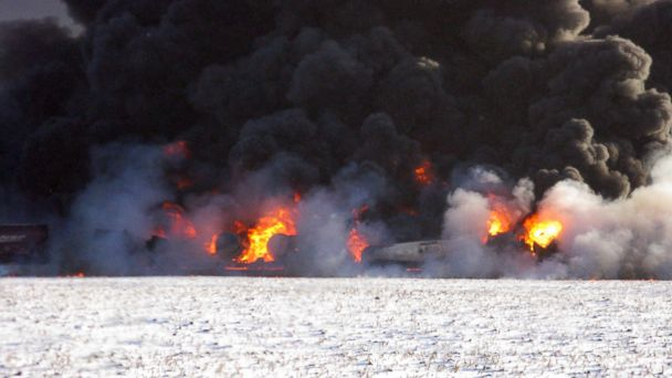 AP north dakota train explosion jef 131231 16x9 608 N.D.Train Derailment Could Change How Crude Oil Transported