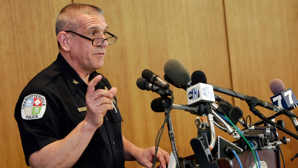 PHOTO: Charlottesville Police Chief Timothy Longo speaks during a news conference on March 23, 2015, in Charlottesville, Virginia.