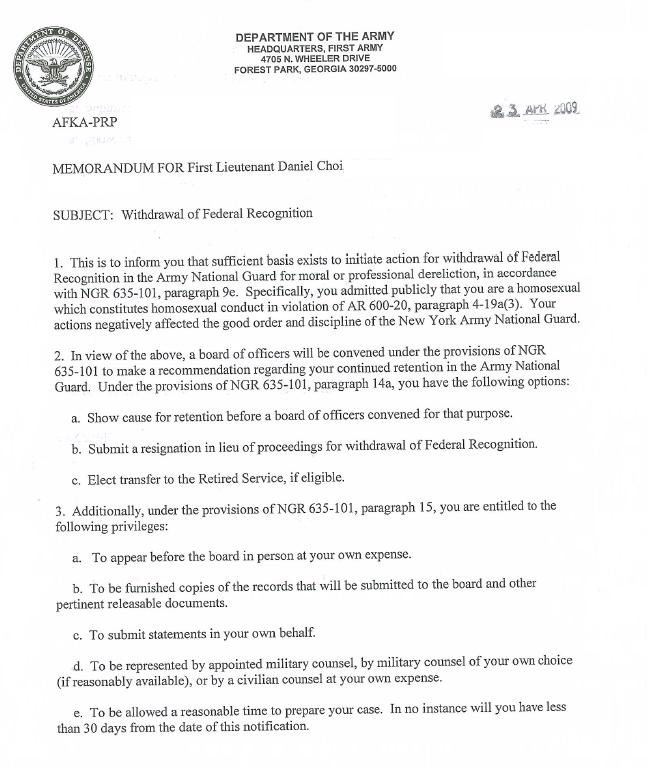 Essay on homosexuality in the military