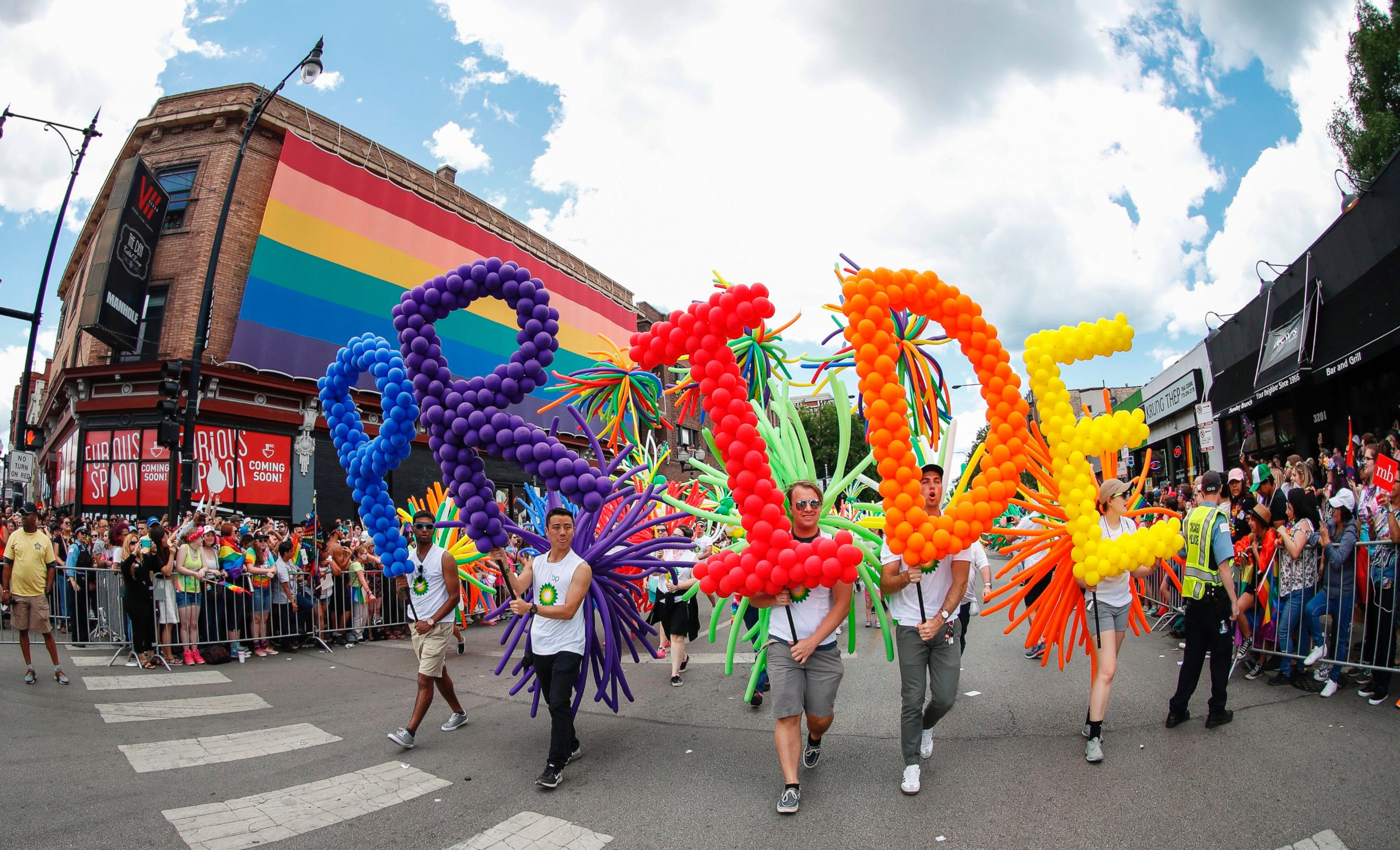 The gay pride parade