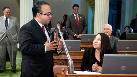 HT alejo proposal dm 120508 wblog California Lawmaker Proposes Marriage on Assembly Floor