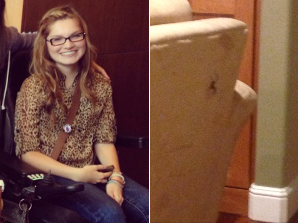 HT makenna sewell spider jef 130830 Oregon Teen Calls Police for Help with Massive Spider