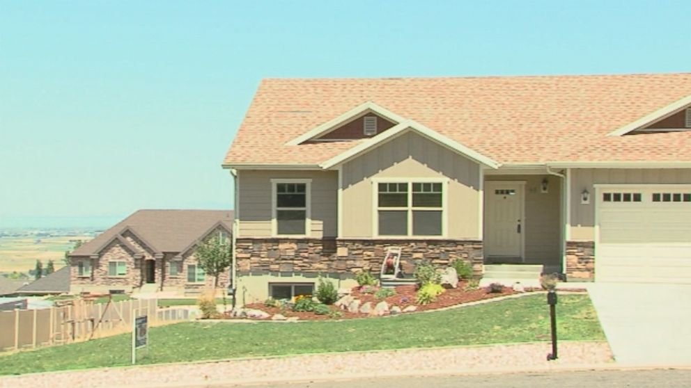 Exterior shot of the home where Colby Glen Wilde and Lacey Dawn Christenson were living in Elk Ridge, Utah.