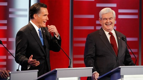 abc 126866 Q1H1592 mitt newt tk 111210 wblog Gingrich Campaign Says Romney Is Looking at European Socialist Ideas