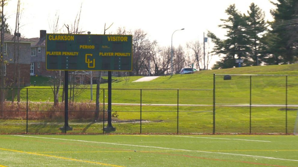 PHOTO: A soccer field at Clarkson University in Potsdam, New York.