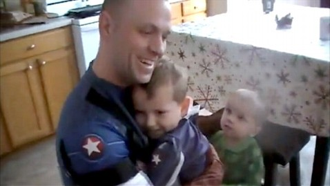 abc captain america dad soldier thg 120323 wblog WATCH: Real Life Captain America Surprises Son on His Birthday