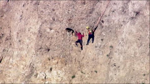 abc dog rescue nt 111229 wblog Hiker, Dog Saved in Dramatic Cliff Rescue
