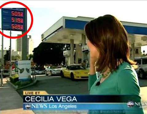 abc gas price 2 ll 120222 wblog Price Shock: Watch Cost of Gas  Jump 10 Cents During ABCs World News Broadcast