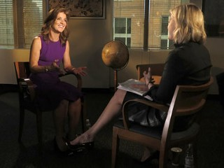 PHOTO: ABC News anchor Diane Sawyer interviews Caroline Kennedy.
