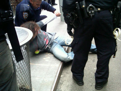 abc occupy protester arrested nt 111117 main Occupy Wall Streets Day of Disruption: WN Live Updates