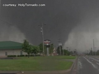 VIDEO: The National Weather Service says tornado had wind speeds up to 200 mph.