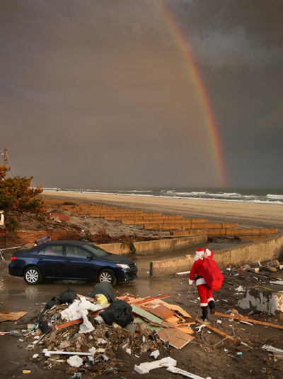 ap 07 santa clause sandy nt 121221 Superstorm Santa Claus Delivers Holiday Cheer to Children Living in Areas Hit by Sandy