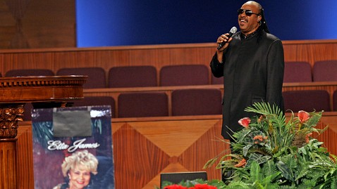 ap Etta James Funeral stevie wonder jt 120129 wblog Etta James Funeral: Christina Aguilera, Stevie Wonder Pay Tribute