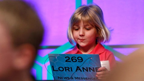 ap Lori Anne Madison spelling 120530 wblog 6 Year Old Eliminated from National Spelling Bee