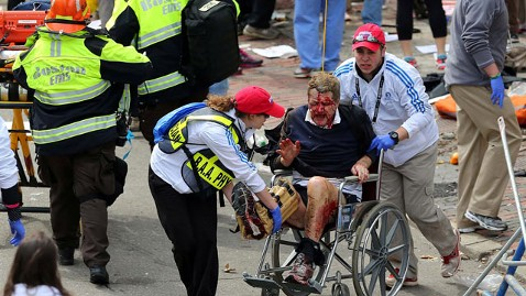 ap boston injured kb 130415 wblog LIVE UPDATES: Boston Marathon Explosion