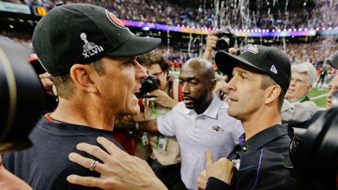 ap harbaugh brothers kb 130203 wblog Super Bowl XLVII Live: Score, Commercials and More