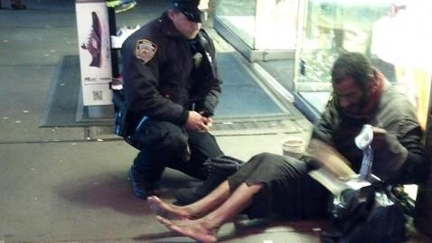ap homeless tk 121203 wblog NYC Homeless Man Is Shoeless Again