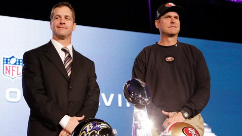 ap jim and john harbaugh super bowl jt 130202 wblog Instant Index: Phil Does Not See His Shadow and Two NFL Coaches Making History