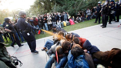 ap occupy pepper spray nt 111121 wblog UC Davis in $1M Pepper Spray Settlement