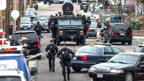 gty boston search tank 2 nt 130419 wblog LIVE UPDATES: Boston Bombing Suspect in Custody, Say Police