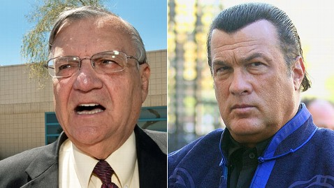 gty joe arpaio steven segal jt 130209 wblog Steven Seagal Training Sheriff Joe Arpaios Posse on School Security