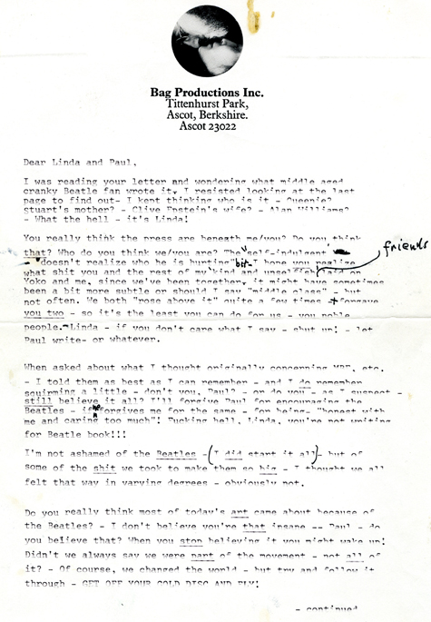 GTY JOHN LENNON lettera 1 nt 130329 Lettere blog da una Marilyn Monroe perduta, Angry John Lennon da mettere all'asta