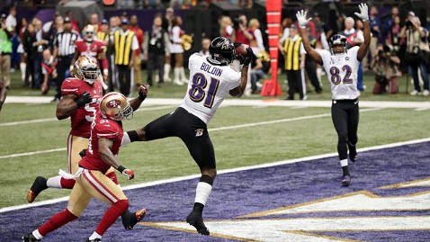 gty ravens td kb 130203 wblog Super Bowl XLVII Live: Score, Commercials and More
