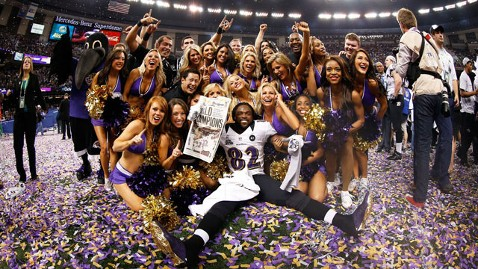gty ravens won kb 130203 wblog Super Bowl XLVII Live: Score, Commercials and More