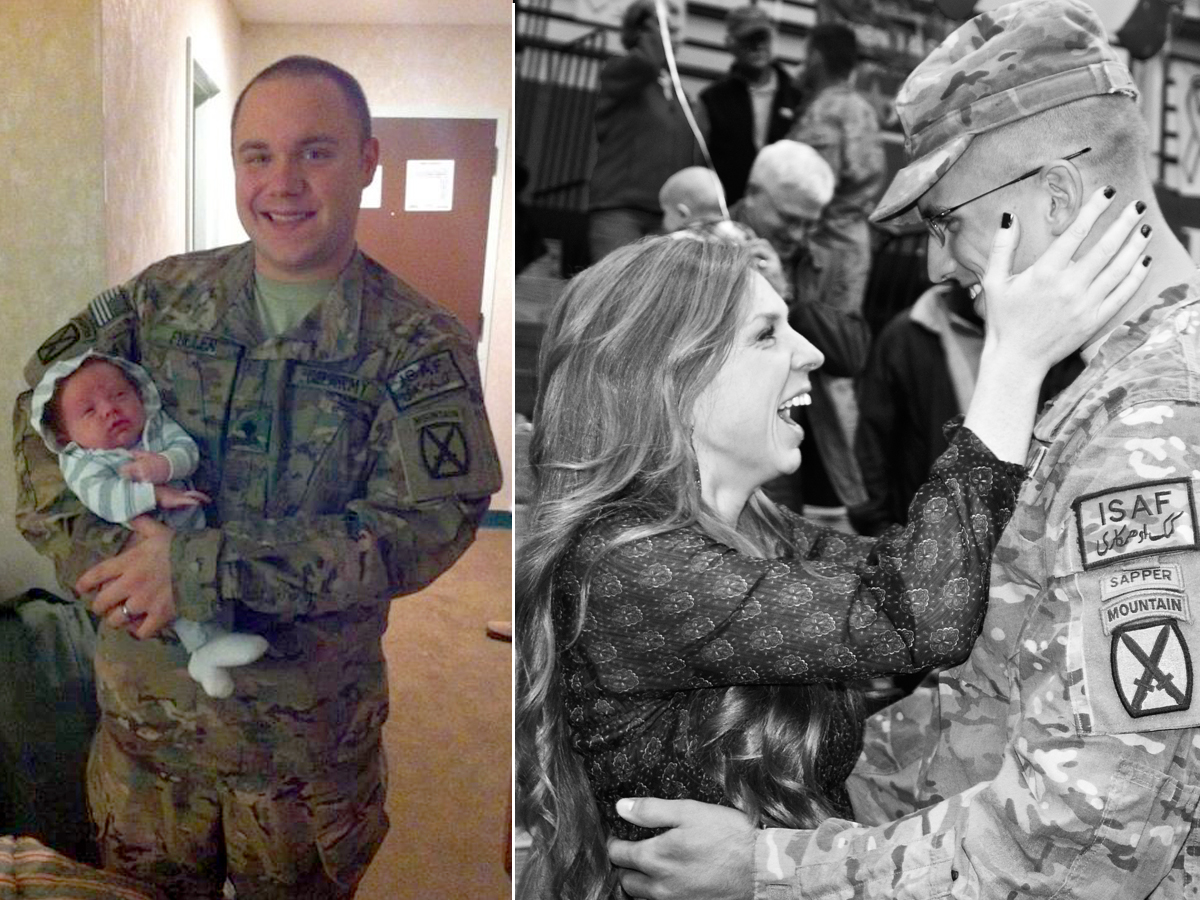 ht army soldier reunites with family split sr 131107 GMA Witnesses Tender Military Homecomings