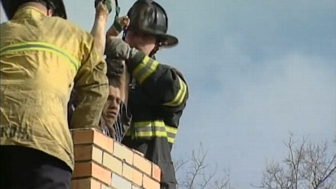 ht chimney rescue jp 111216 wblog Calif. Teen Gets Stuck In Chimney
