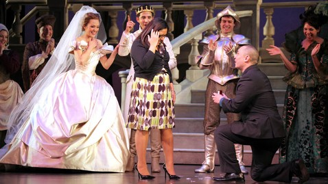ht cinderella proposal broadway thg 130129 wblog New York Cop Proposes With Cinderella Cast