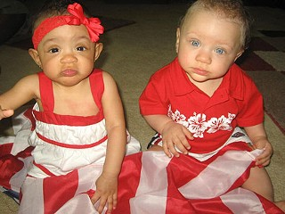 -old twins  born to a black father and white mother from Akron  OhioBlack Baby Twins Boy And Girl