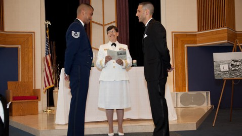ht gay wedding military ceremony kb 120719 wblog First Military Base Same Sex Wedding Held