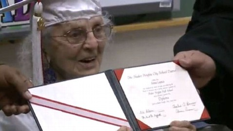 ht graduate ann colagiovanni diploma nt 120608 wblog 97 Year Old High School Dropout Gets Diploma