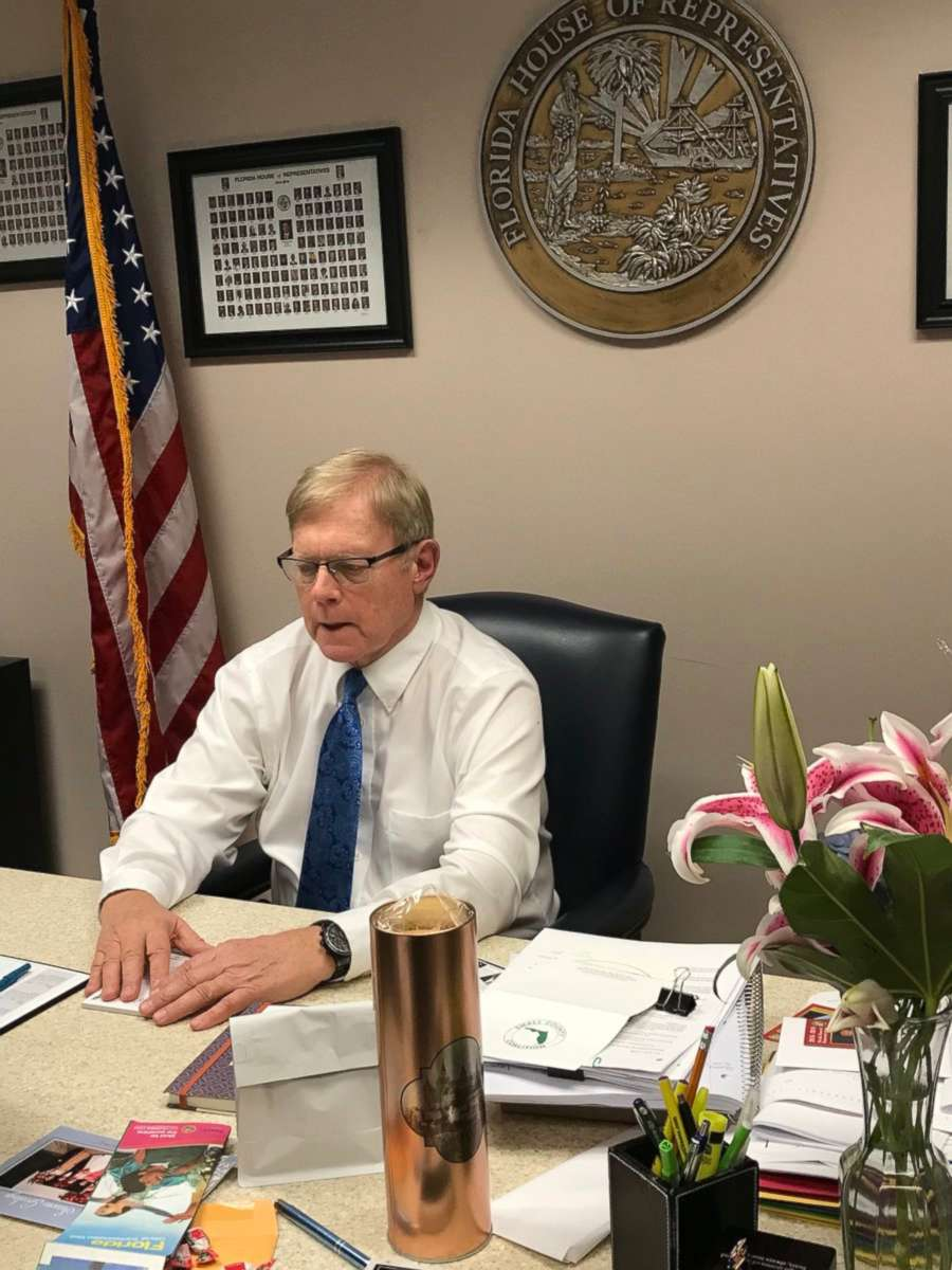 PHOTO: Florida state legislator Bill Hager in his office on Jan. 9, 2018.
